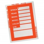 Window Stock Stickers – Red (200pk)
